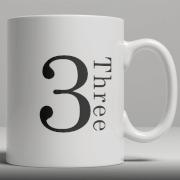 Alphabet Ceramic Mug - Number 3