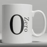 Alphabet Ceramic Mug - Number 0