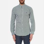 Polo Ralph Lauren Mens Long Sleeved Striped Shirt  Pine Green  S