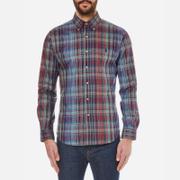 Polo Ralph Lauren Mens Long Sleeved Shirt  BlueWine  L