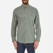 Polo Ralph Lauren Mens Long Sleeved Checked Shirt  Myrtle Green  S