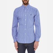Polo Ralph Lauren Mens Long Sleeved Small Checked Shirt  BlueWhite  L