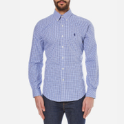 Polo Ralph Lauren Mens Long Sleeved Small Checked Shirt  NavyAzure  M
