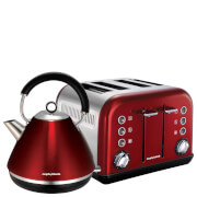 Morphy Richards Pyramid Refresh Kettle and Toaster Bundle - New Red