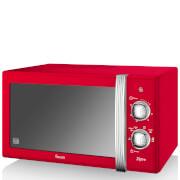 Swan 800W Manual Microwave - Red