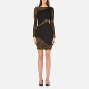 Versace Jeans Women's Long Sleeve Fitted Dress - Black