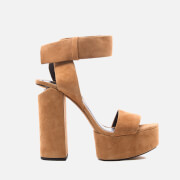 Alexander Wang Women's Keke Platform Heeled Sandals - Clay - EU 37/UK 4 - Stone