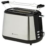 Hotpoint MyLine 2 Slice Toaster - Matt Steel