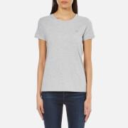 GANT Women's Cotton/Elastane Crew Neck T-Shirt - Light Grey Melange