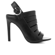 Kendall + Kylie Women's Mia Strappy Leather Heeled Sandals - Black