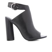 Kendall + Kylie Women's Gigi Leather Heeled Sandals - Black