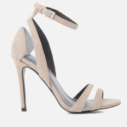 Kendall + Kylie Women's Goldie Suede Heeled Sandals - Sand/Clear