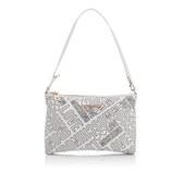 Love Moschino Women's Love Printed Shoulder Clutch Bag - White