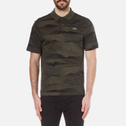 Lacoste L!Ve Mens Graphic Printed Polo Shirt  BaobabBlack  3S