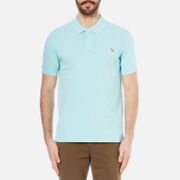 PS by Paul Smith Mens Regular Fit Zebra Polo Shirt  Turquoise  M