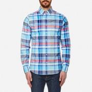 GANT Men's Big Plaid Comfort Oxford Long Sleeve Shirt - Nautical Blue