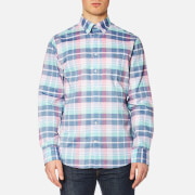 GANT Men's Madras Plaid Long Sleeve Shirt - Persian Blue