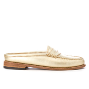 Bass Weejuns Womens Penny Slide Leather Loafers  Gold Textured  UK 4
