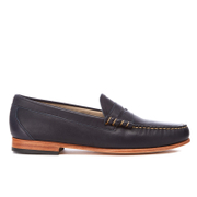Bass Weejuns Mens Palm Springs Larson Mon Leather Penny Loafers  Navy  UK 11