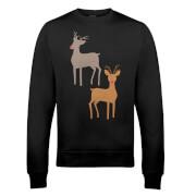 Sweatshirt de Noël Rudolphe -Blanc