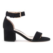 Dune Women's Jaygo Suede Barely There Blocked Heeled Sandals - Black