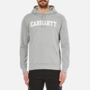 Carhartt Men's Hooded College Sweatshirt - Grey Heather/White