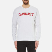 Carhartt Men's College Sweatshirt - Ash Heather/Chilli