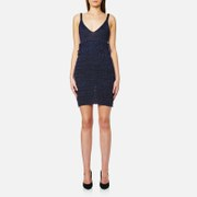 KENZO Women's Ruffle Lurex Knit Dress - Midnight Blue - L - Blue