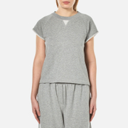 T by Alexander Wang Women's Soft French Terry Cap Sleeve Raglan Sweatshirt - Heather Grey - M - Grey