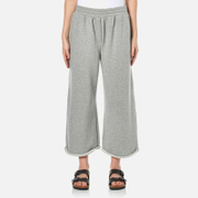 T by Alexander Wang Women's Soft French Terry Cropped Leg Sweatpants - Heather Grey - L - Grey