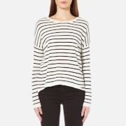 Samsoe & Samsoe Women's Kally O-N Stripe Top - Breton Cream