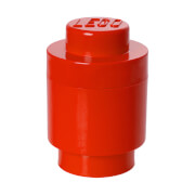 Brique de rangement Ronde LEGO® Rouge 1 tenon