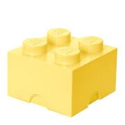 LEGO Storage Brick 4   Cool Yellow