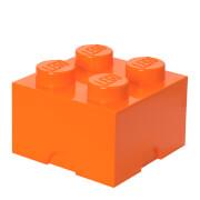 LEGO Storage Brick 4   Bright Orange