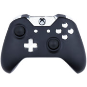 Custom Controllers Xbox One Controller  Matte Black & Chrome Silver