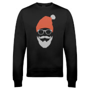 Cool Santa Christmas Sweatshirt - Black