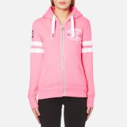 Superdry Women's Track & Field Zip Hoody - Pink Sorbet Snowy