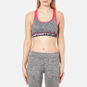 Superdry Women's Superdry Gym Panel Sports Bra - Charcoal Grit