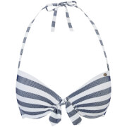 Superdry Women's Cali Stripe Cup Bikini Top - Navy/White
