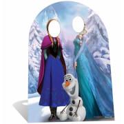 Double Passe-Tête en Carton Disney La Reine des Neiges