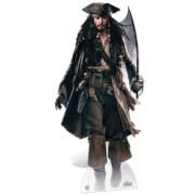 Silhouette Découpée en Carton Pirates des Caraïbes Jack Sparrow