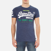 Superdry Men's Shirt Shop T-Shirt - French Navy Snow