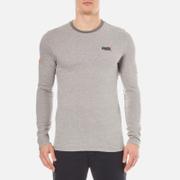 Superdry Men's Orange Label Textured Long Sleeve T-Shirt - Mid Grey Jaquared