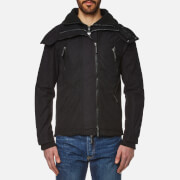 Superdry Men's Microfibre Hooded Wind Attacker Jacket - Deep Black