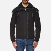Superdry Men's Microfibre Hooded Wind Attacker Jacket - Deep Black