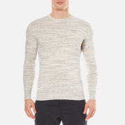 Superdry Men's Orange Label Crew Top - Limestone Mega Grit