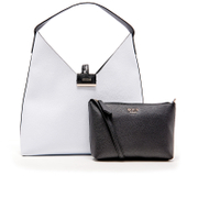 Guess Women's Bobbi Inside Out Hobo Bag - White/Black
