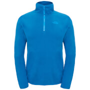 The North Face Men's 100 Glacier 1/4 Zip Fleece - Banoff Blue