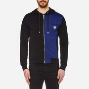 Versus Versace Men's Two Tone Lion Logo Hoody - Black/Blue
