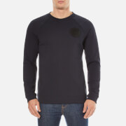 Versace Collection Men's Round Logo Sweatshirt - Navy